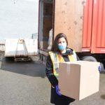 Lady holding box