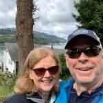 Smiling couple selfie