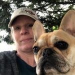 Lady took selfie with her dog